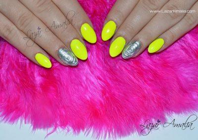 Bright coloured designs