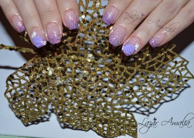 Sparkling nails designed in house