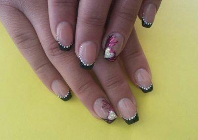 Designed nail tips
