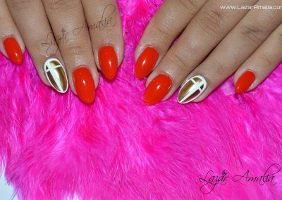 Vibrant nail colours