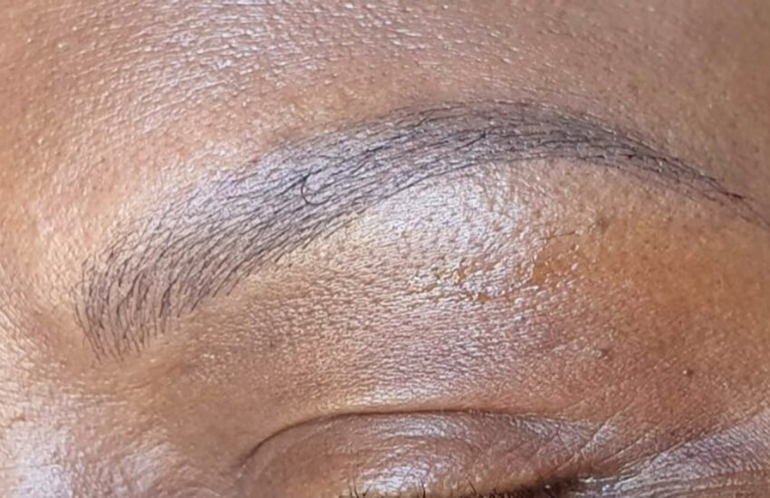 After microblading treatment